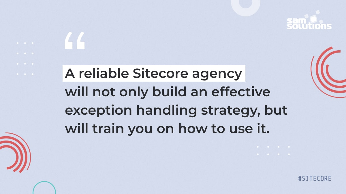 building an effective exception handling strategy for Sitecore